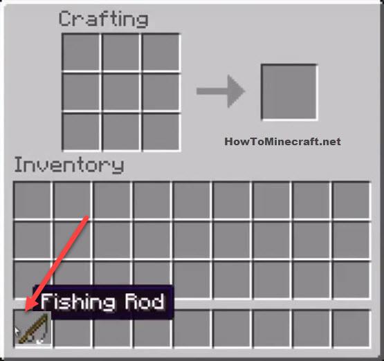 Fishing Rod Minecraft recipe