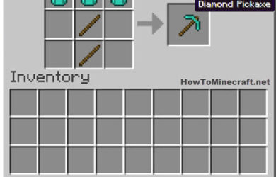 How to make a Diamond Pickaxe in Minecraft