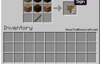 How to make a Sign in Minecraft