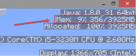 minecraft how to allocate more ram