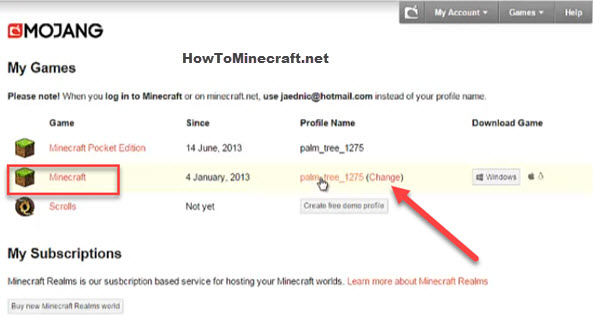 minecraft username change