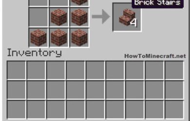 How to make a Brick Stair in Minecraft