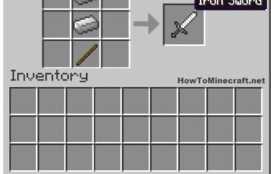 How to make an Iron Sword in Minecraft