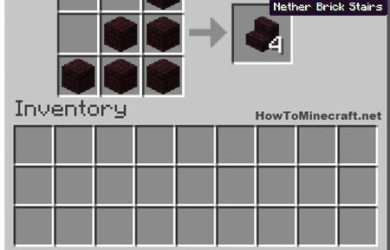 How to make a Nether Brick Stair in Minecraft