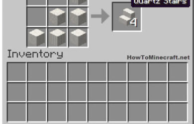 How to make a Quartz Stair in Minecraft