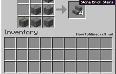 How to make a Stone Brick Stair in Minecraft