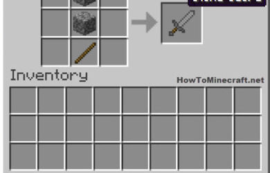 How to make a Stone Sword in Minecraft