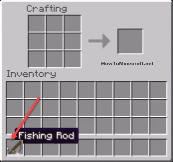 How To Make A Fishing Rod In Minecraft How To Minecraft